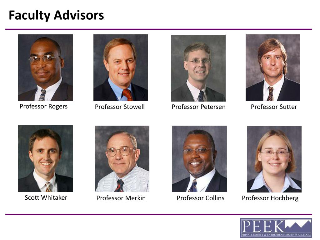 Faculty Advisors