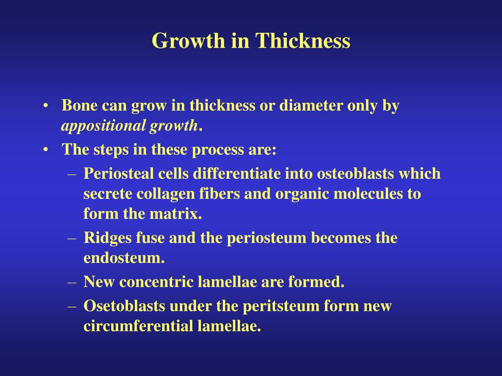Growth in Thickness