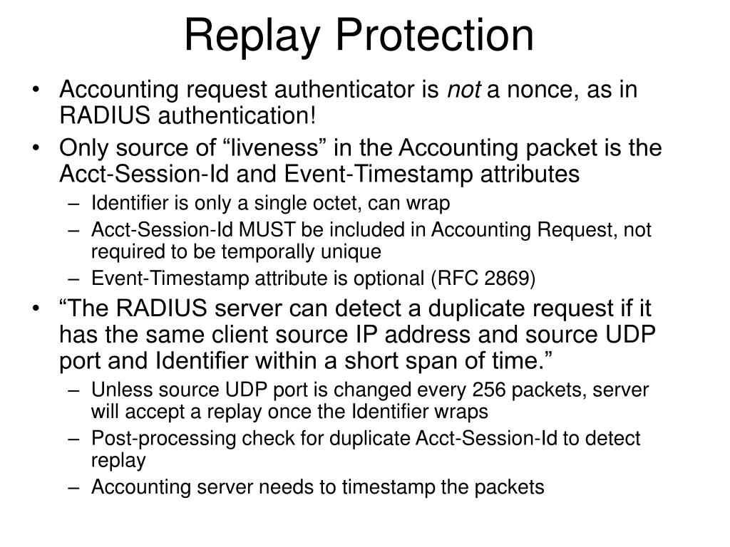 Replay Protection