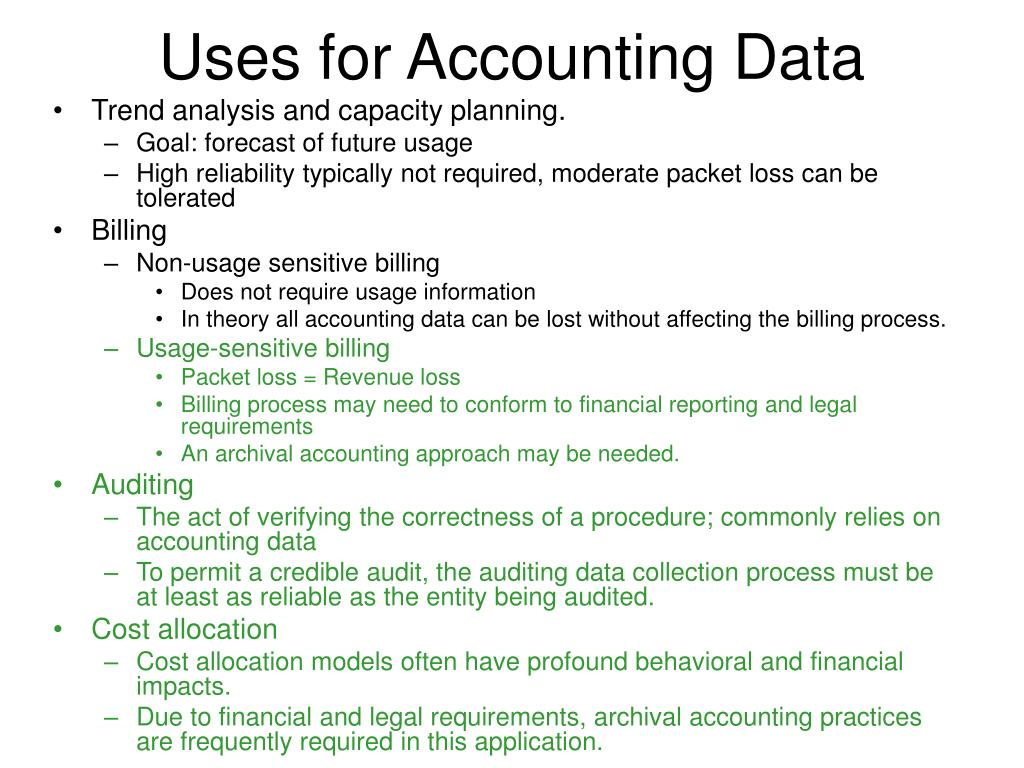 Uses for Accounting Data