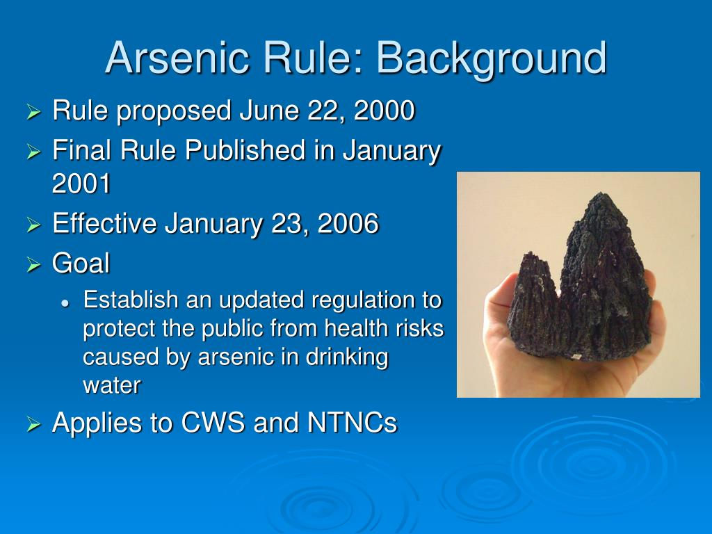 Arsenic Rule: Background