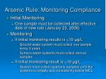 arsenic rule monitoring compliance