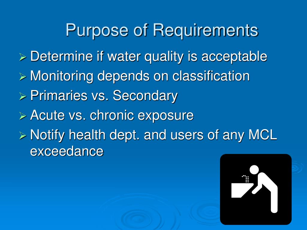 Purpose of Requirements