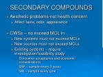 secondary compounds