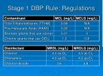 stage 1 dbp rule regulations