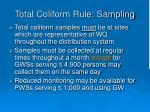 total coliform rule sampling