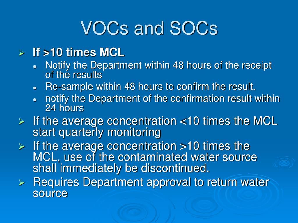 VOCs and SOCs