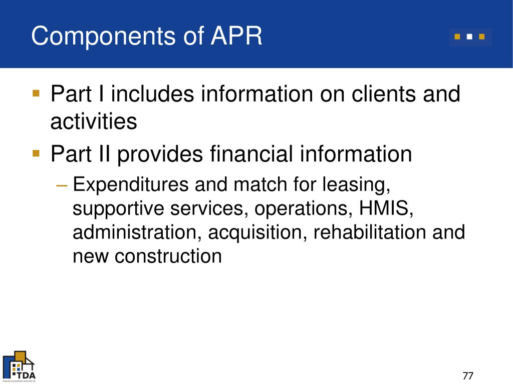 Components of APR