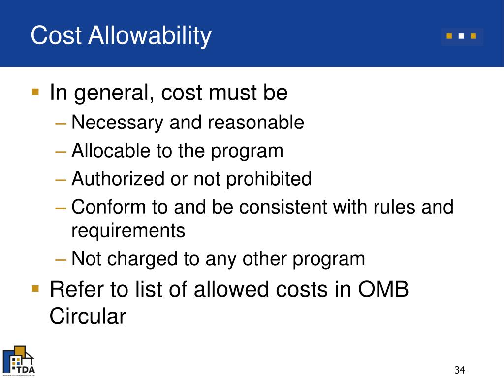 Cost Allowability