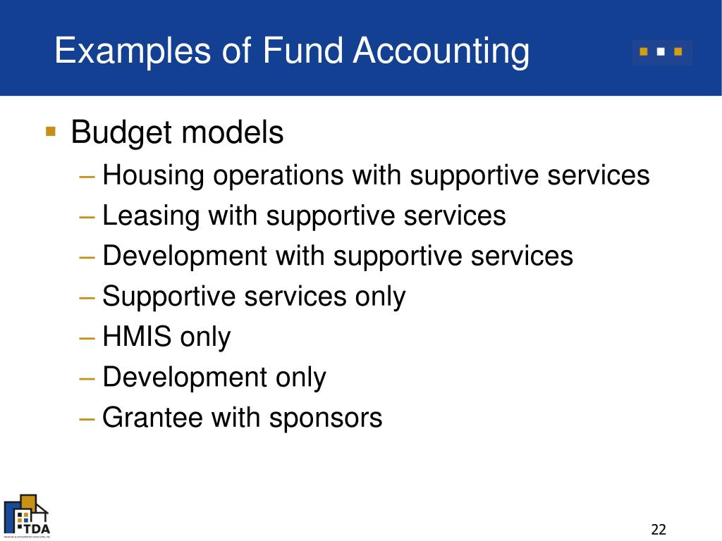 Examples of Fund Accounting