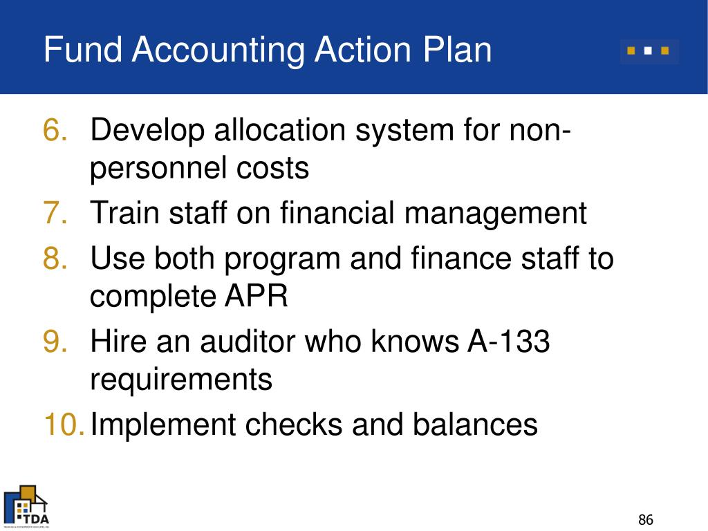 Fund Accounting Action Plan