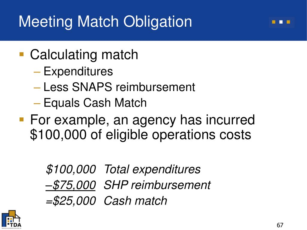 Meeting Match Obligation