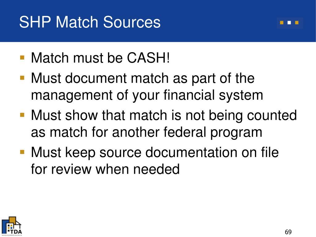 SHP Match Sources