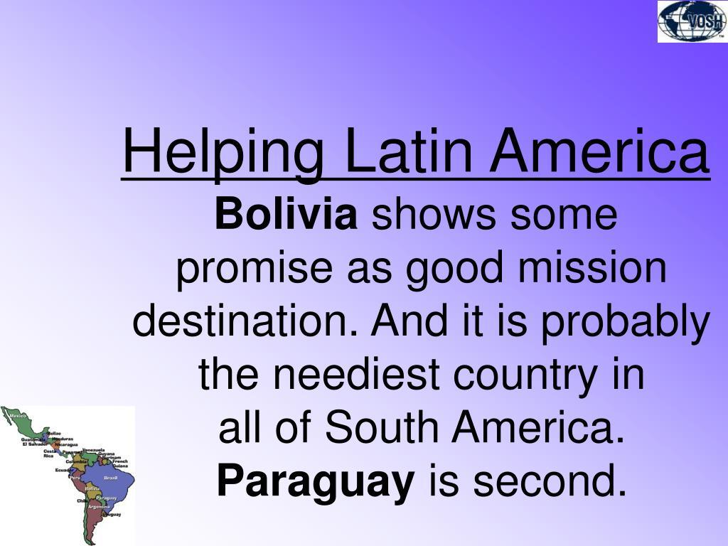 Helping Latin America