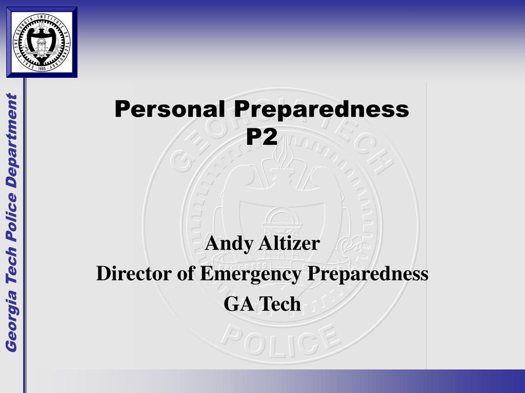 personal preparedness p2
