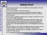 safety first13