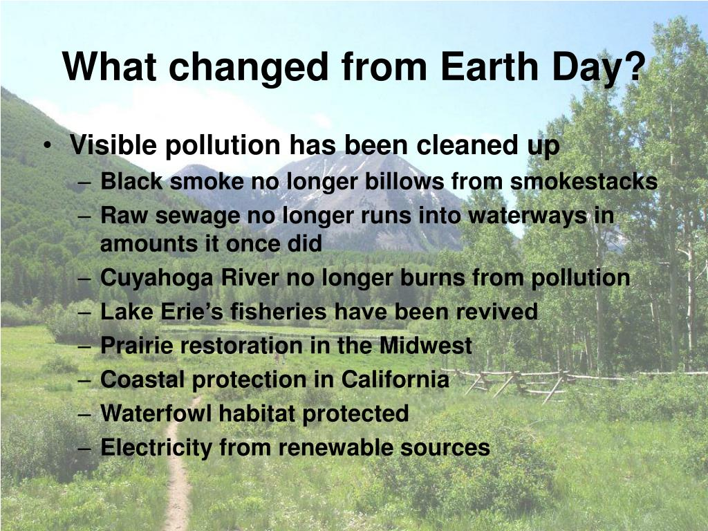 What changed from Earth Day?