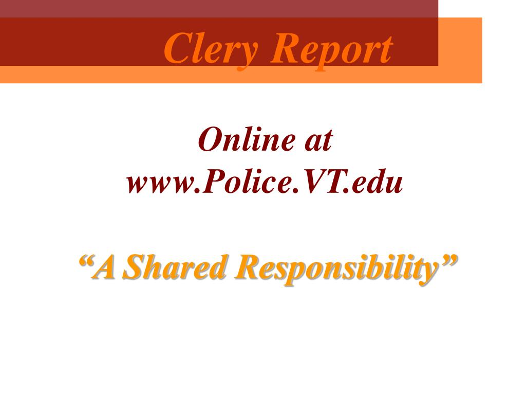 Clery Report