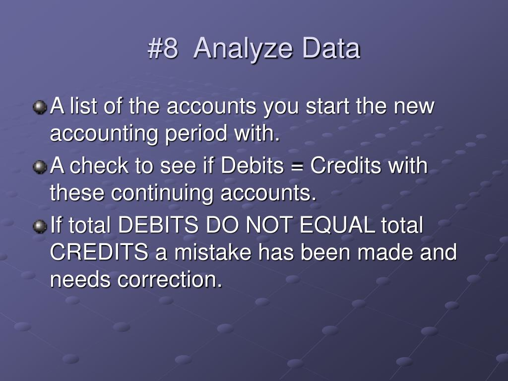 #8  Analyze Data