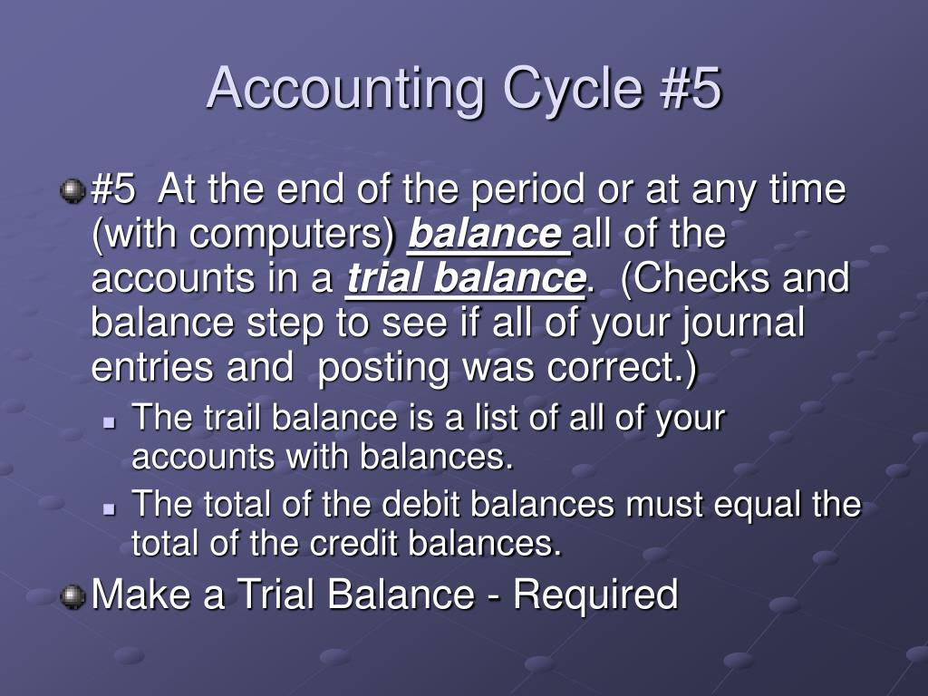 Accounting Cycle #5