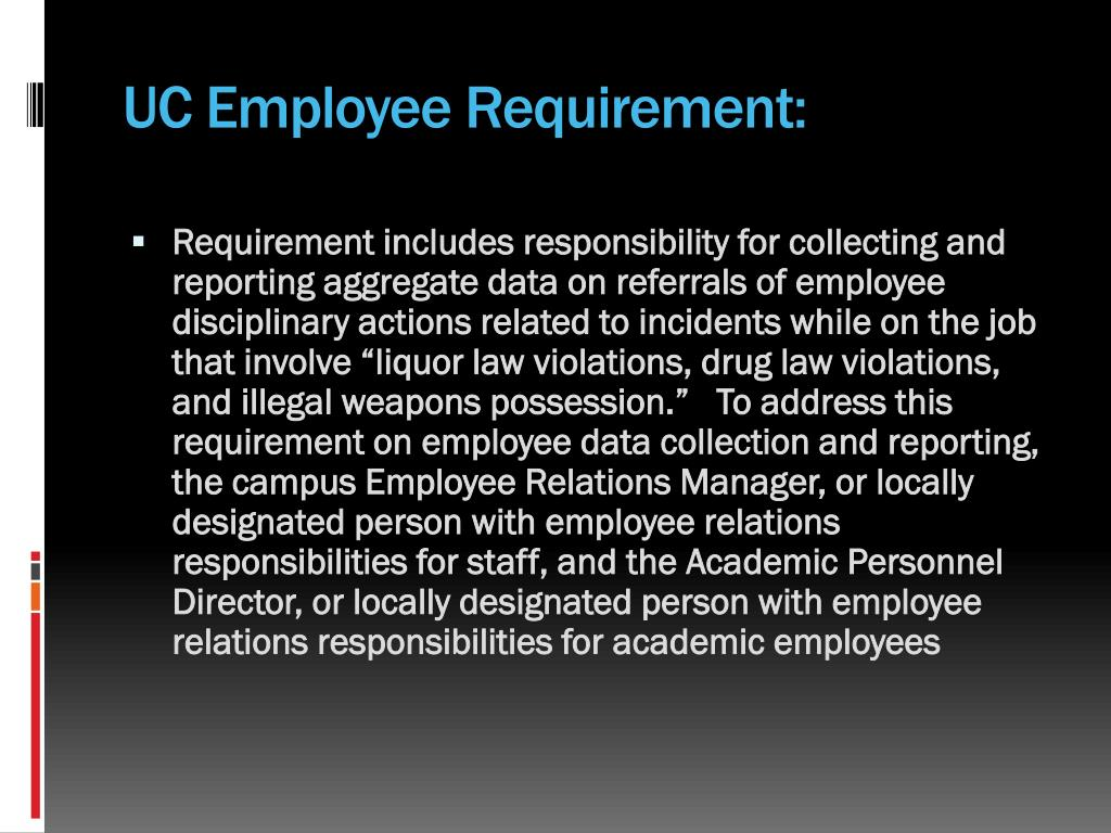 UC Employee Requirement: