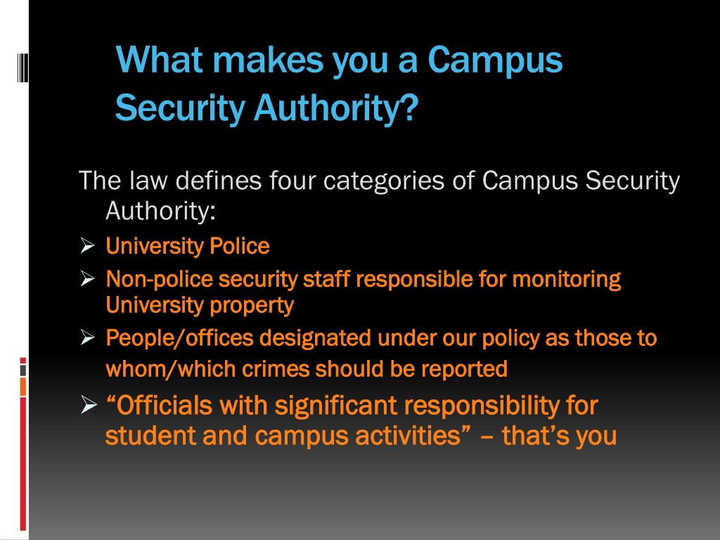 What makes you a Campus Security Authority?