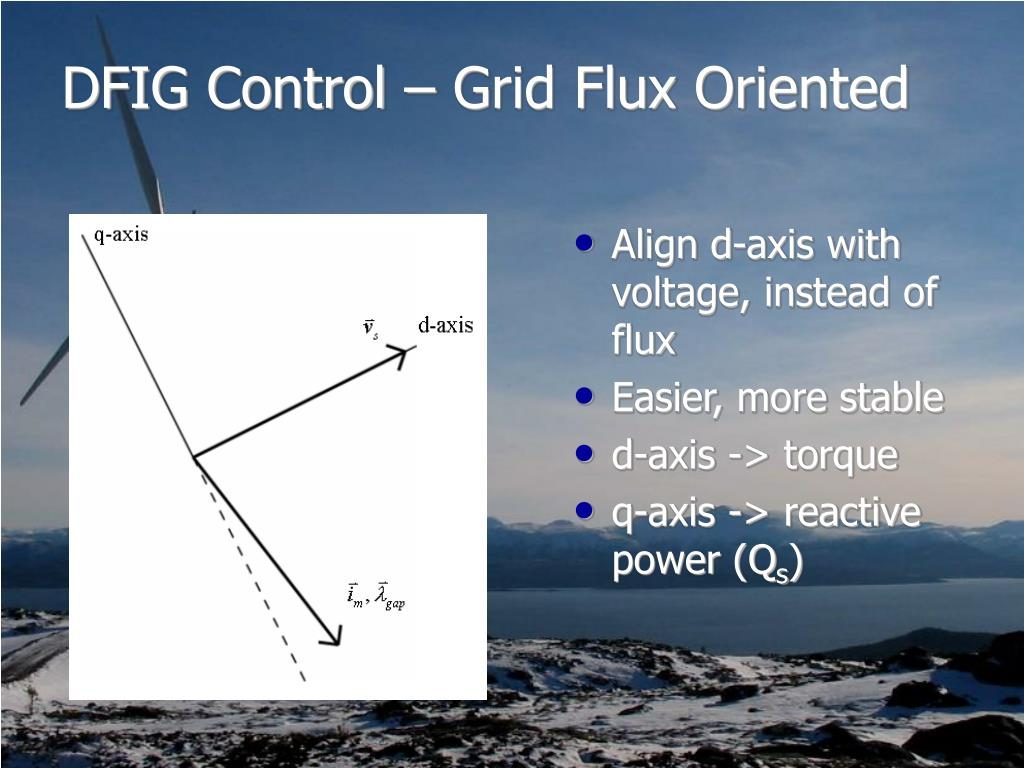 DFIG Control – Grid Flux Oriented