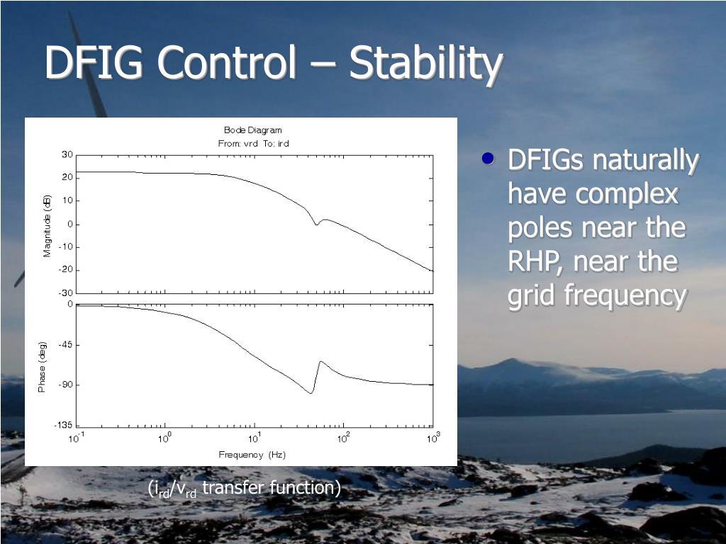 DFIG Control – Stability