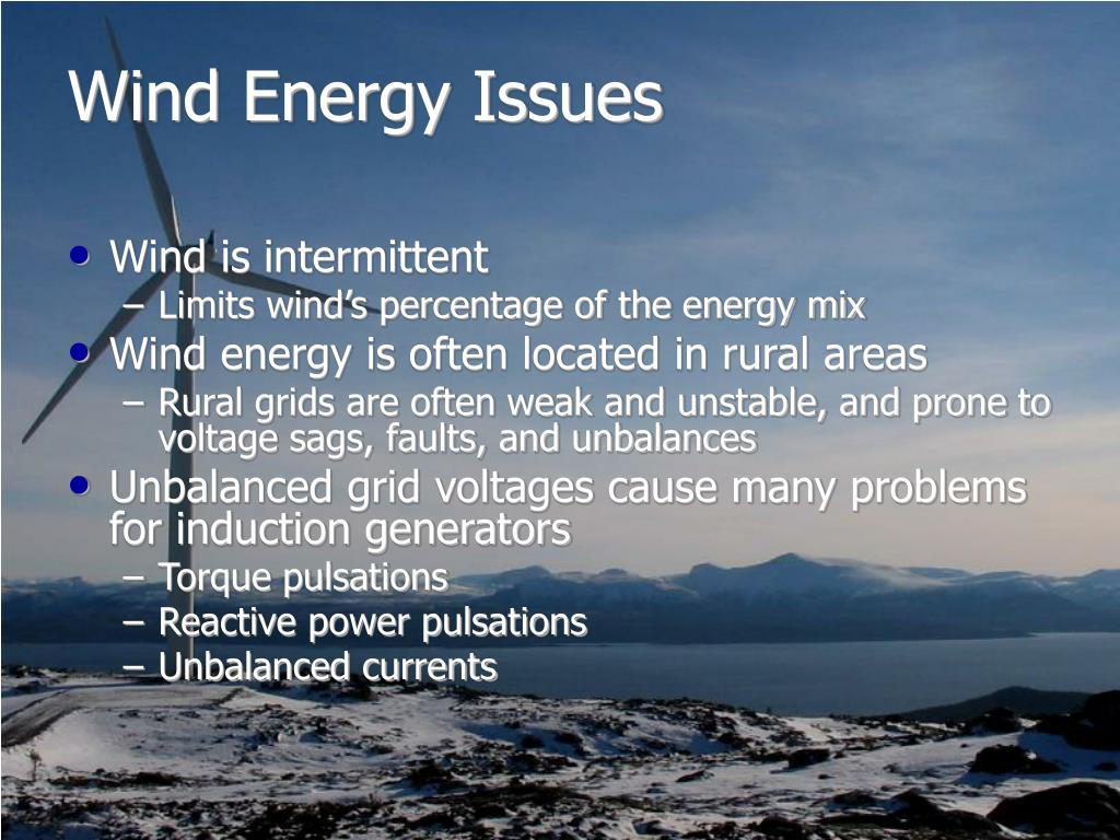 Wind Energy Issues