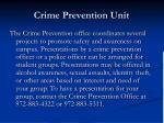 crime prevention unit