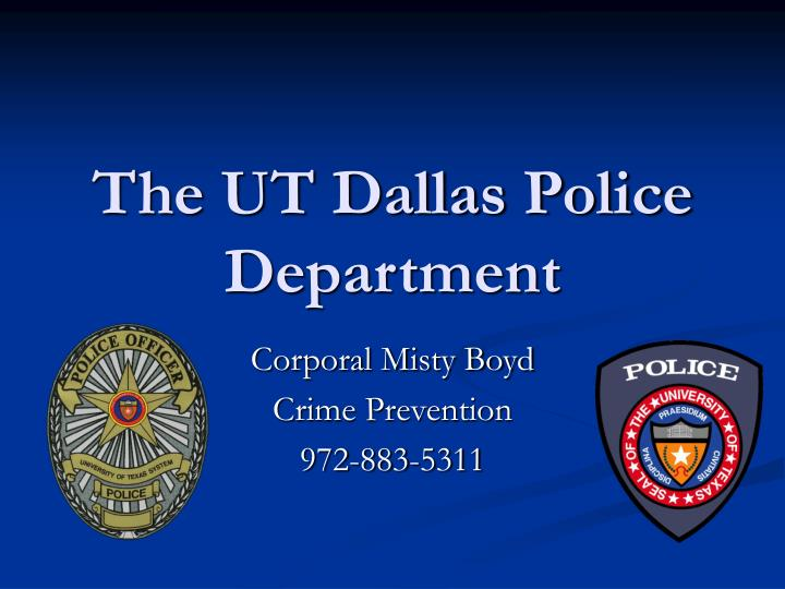 The ut dallas police department