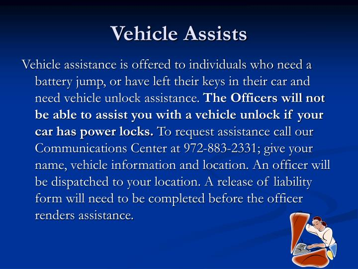 Vehicle Assists