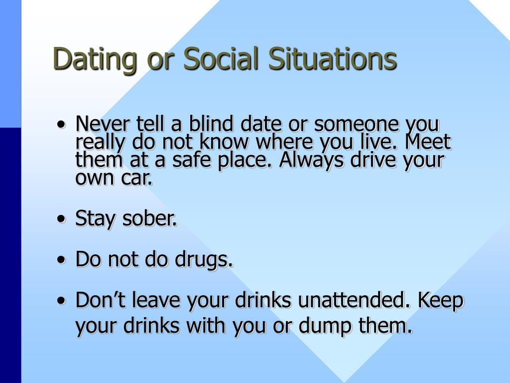 Dating or Social Situations