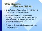 what happens after you dial 911