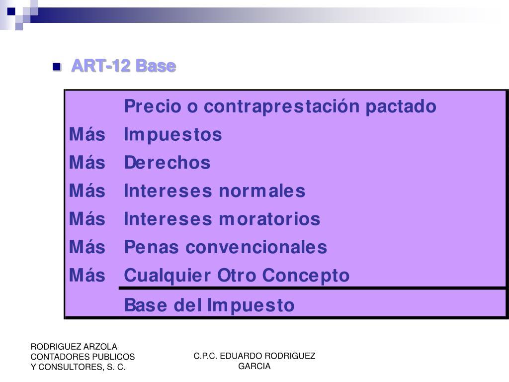 ART-12 Base