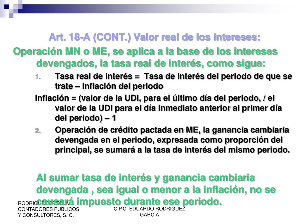 Art. 18-A (CONT.)