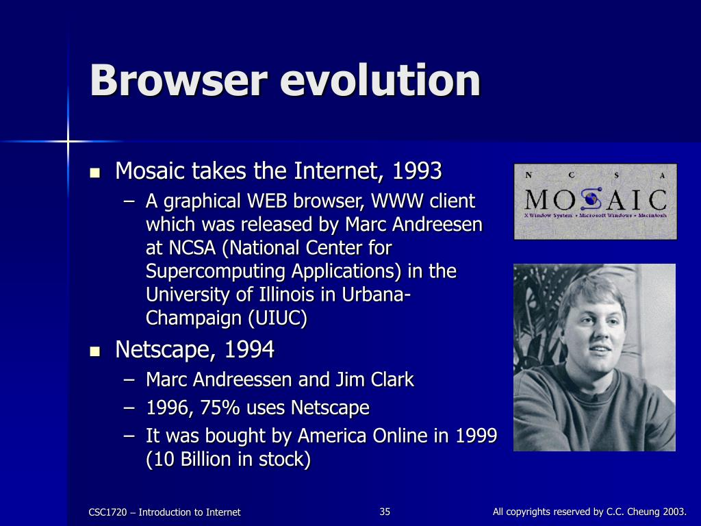 Browser evolution