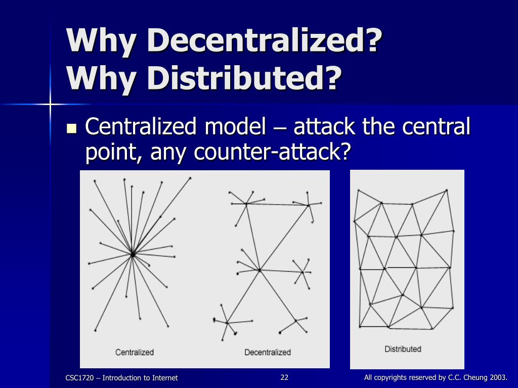 Why Decentralized?
