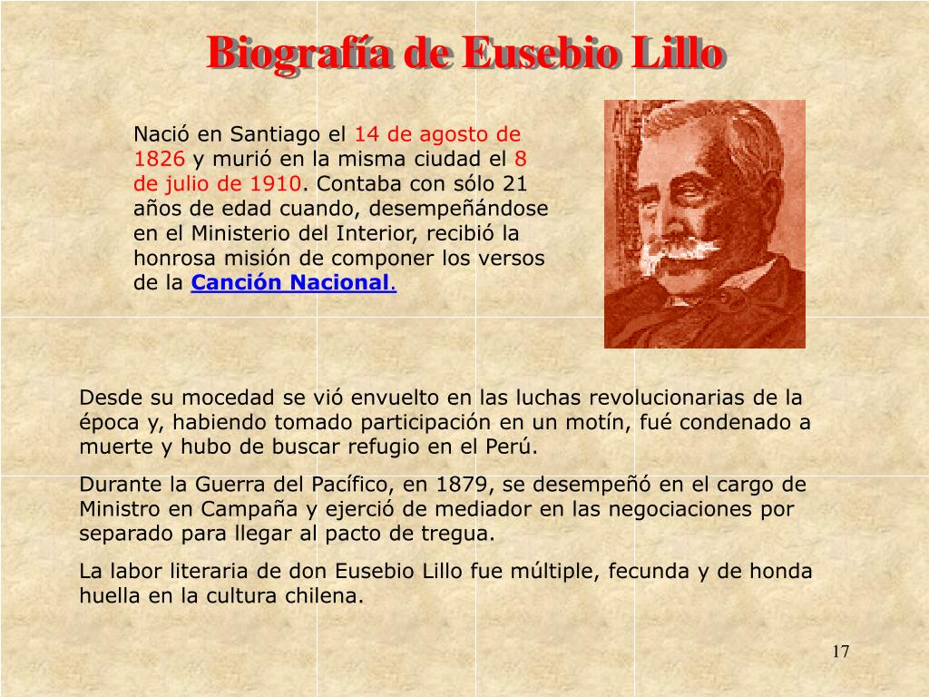Biografa de Eusebio Lillo