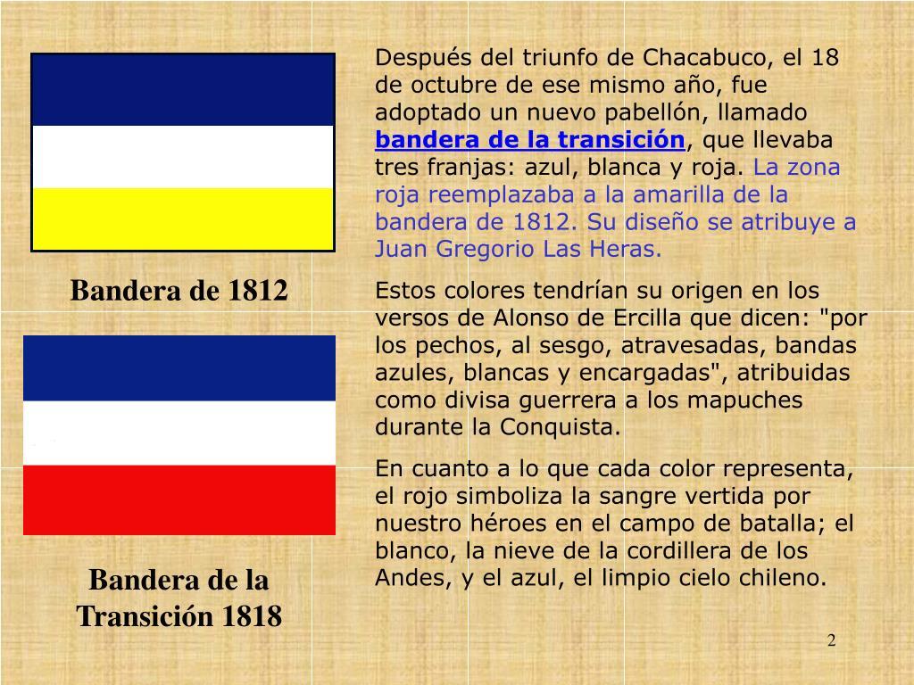Después del triunfo de Chacabuco, el 18 de octubre de ese mismo año, fue adoptado un nuevo pabellón, llamado