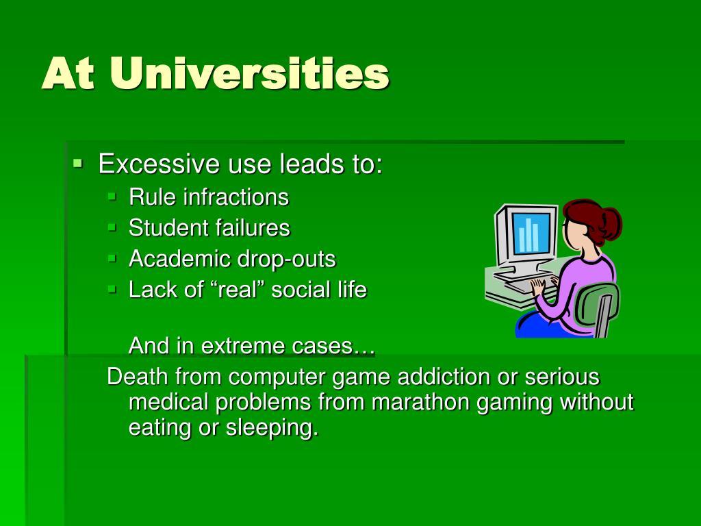 At Universities
