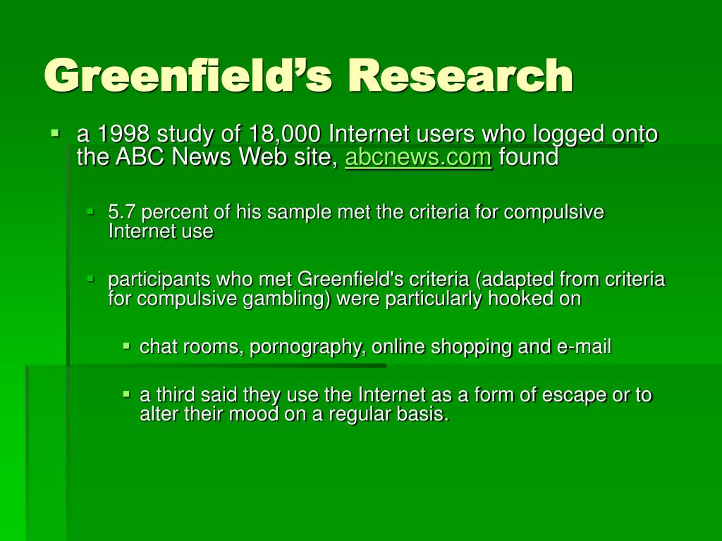 Greenfield's Research