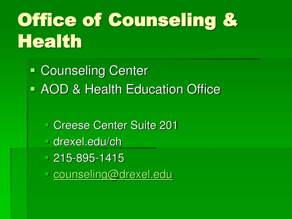 Office of Counseling & Health