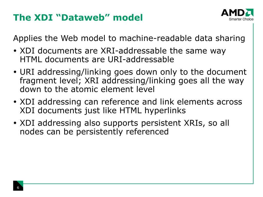 "The XDI ""Dataweb"" model"