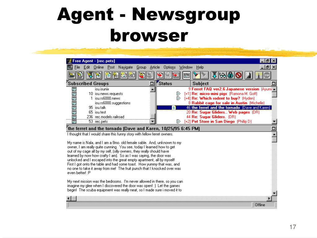 Agent - Newsgroup browser
