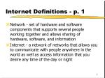 internet definitions p 1