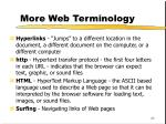 more web terminology