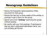 newsgroup guidelines