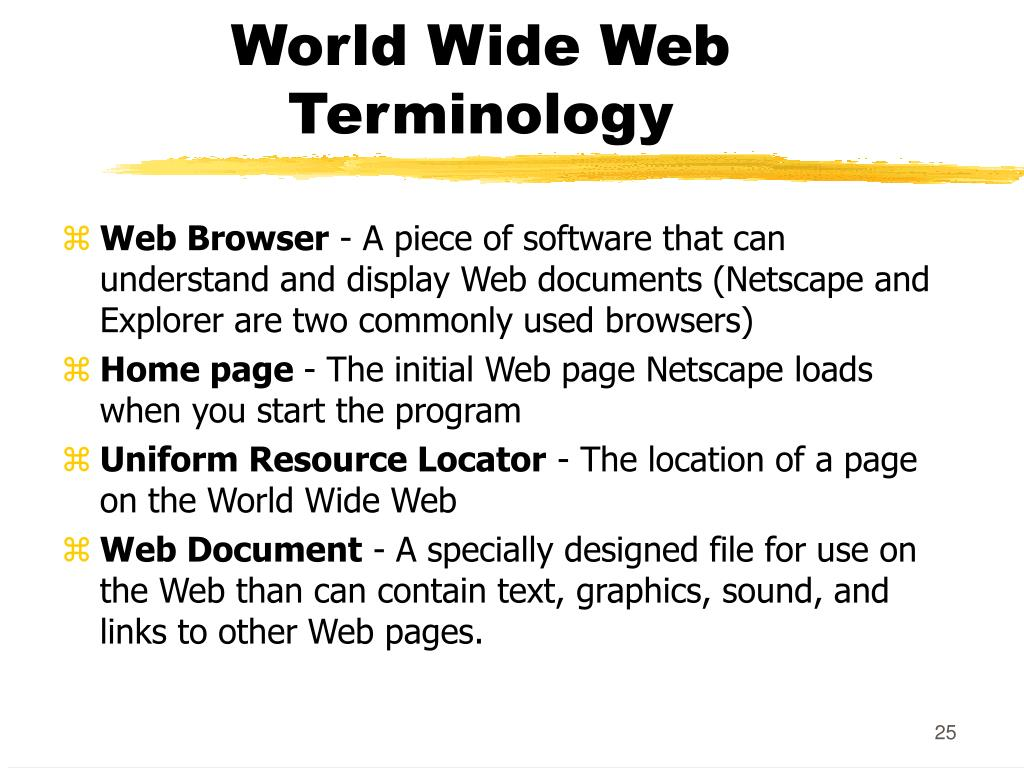 World Wide Web Terminology