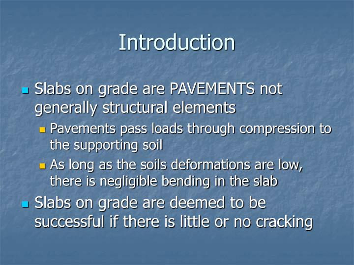 Ppt design of slabs on grade powerpoint presentation for Introduction of soil